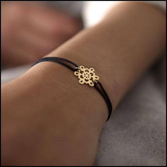 Bracelet cordon Flocon