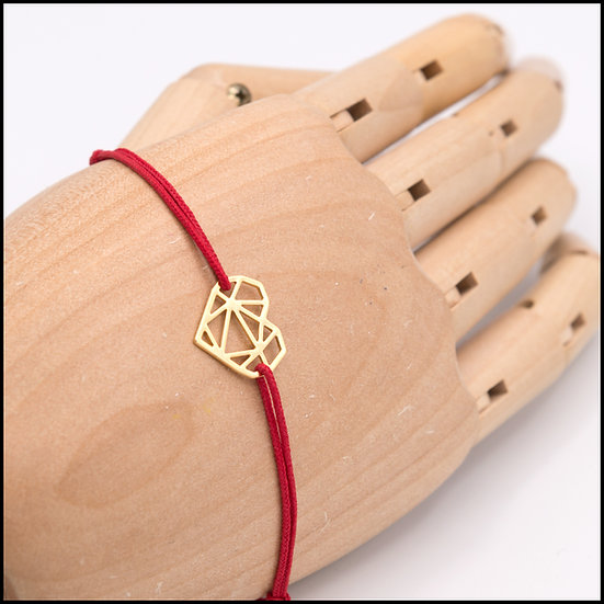 Bracelet Coeur sur cordon