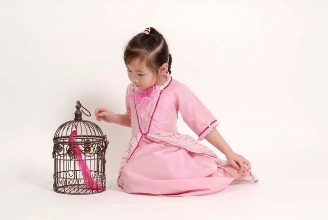 Princess with birdcage