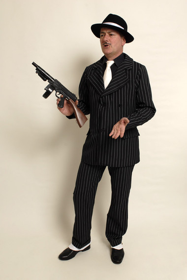 Gangster - double breasted pin striped suit