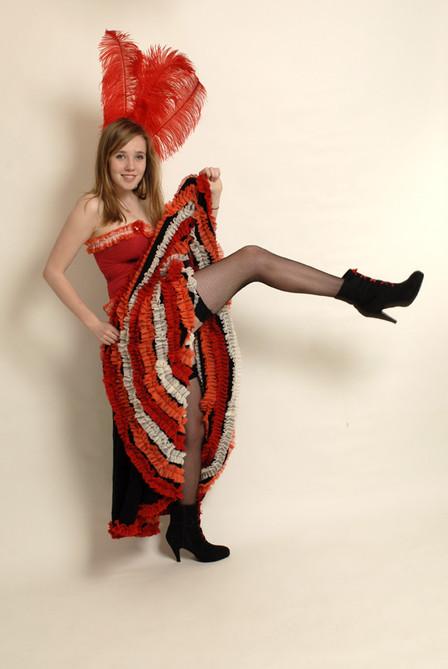 Victorian Cancan Dancer