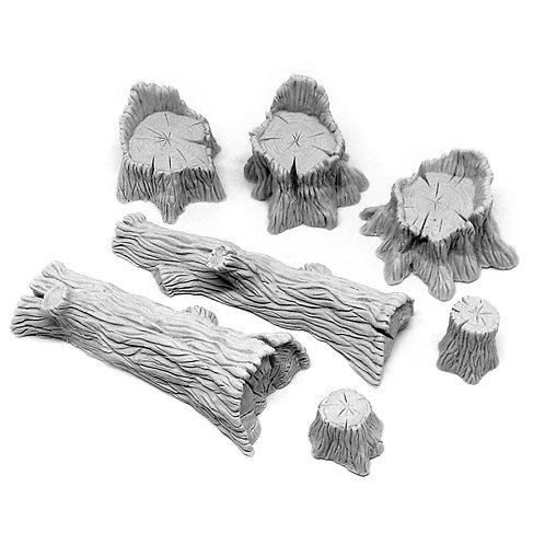 Timber Set: Stumps and Fallen Trees