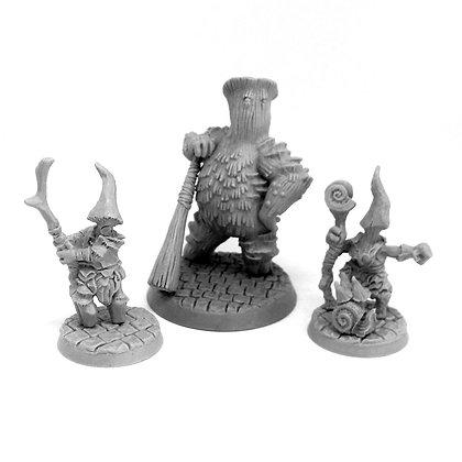 Mushroom Myconid Squad Wizard, Aprentice and Bodyguard