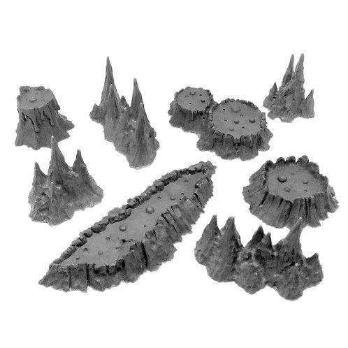 Cave set: Volcanoes and Stalagmites