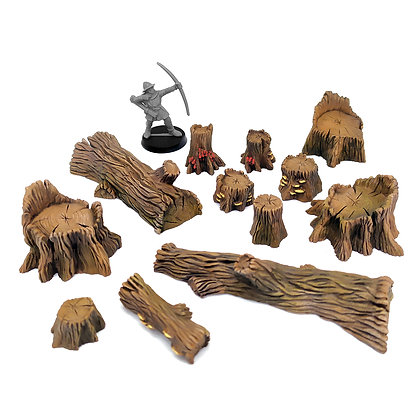 PAINTED Big Wood Set