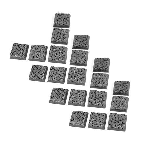 20 20mm x 20mm Cobblestone Square Bases