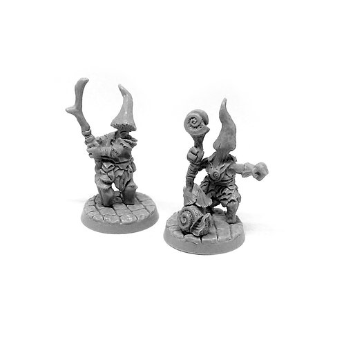 Myconid Wizard and Apprentice
