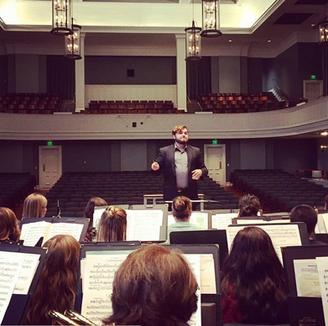 Rehearsing the Belmont University Wind Ensemble, Spring 2017