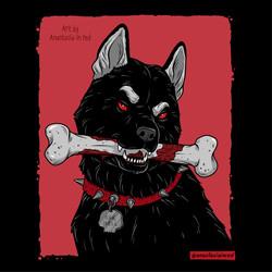 Black dog/Husky
