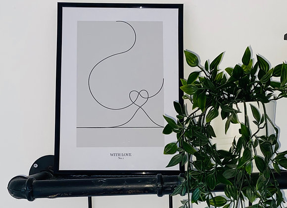 With Love Line Print - No. 1