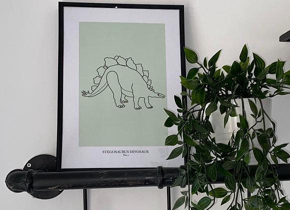 Stegosaurus Line Print - No. 1