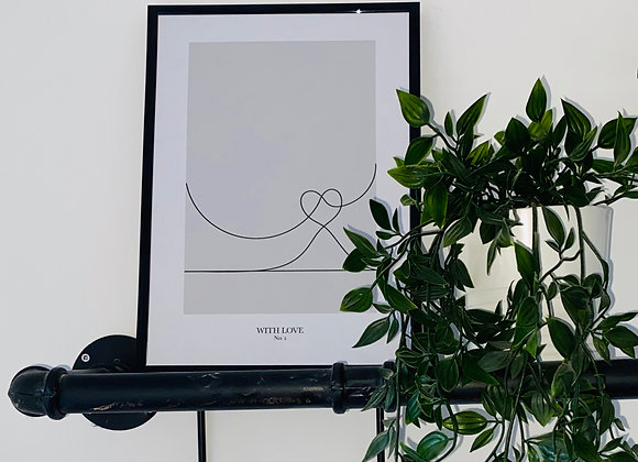 With Love Line Print - No. 2
