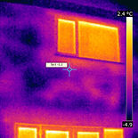 Thermal image, cavity wall insulation