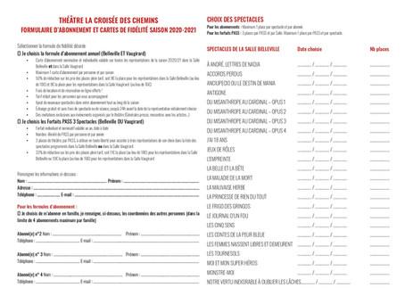 Formulaires d'abonnement : en ligne ou à télécharger