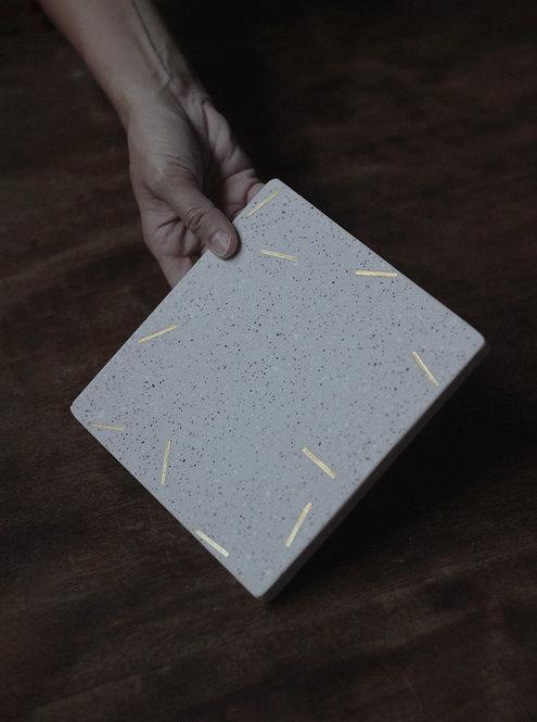 apoio quadrado areia