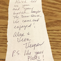 The sweetest note ever left for us