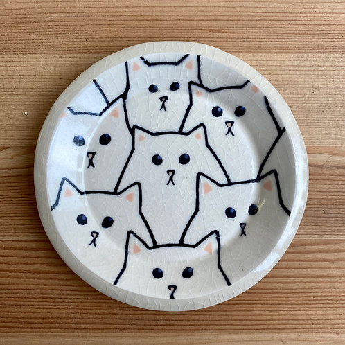 Small Cat Dish by Emily Hobart