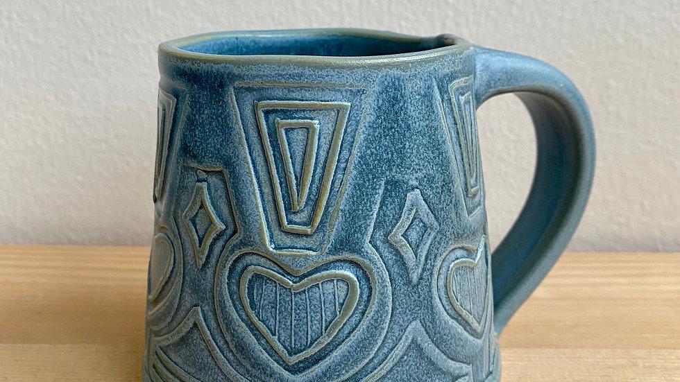 Hand-built mug, Spruce Green