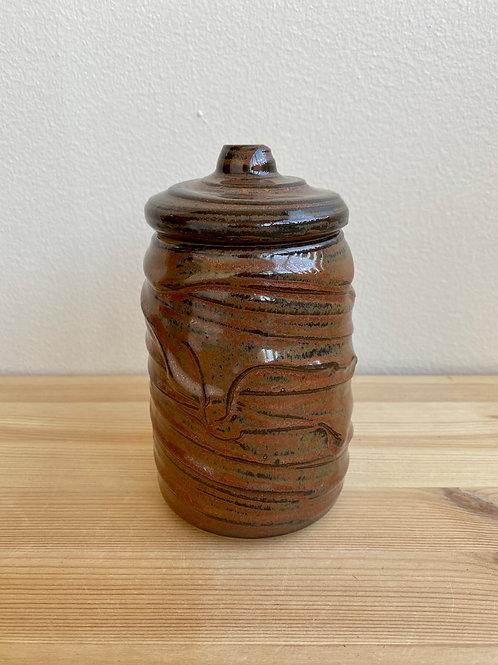 Lidded Jar by Madville Pottery
