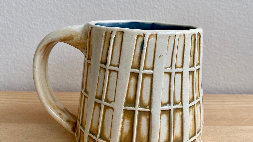 Hand-built window pane mug
