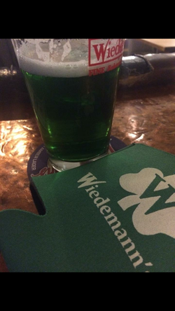 Green beer on St. Patty's