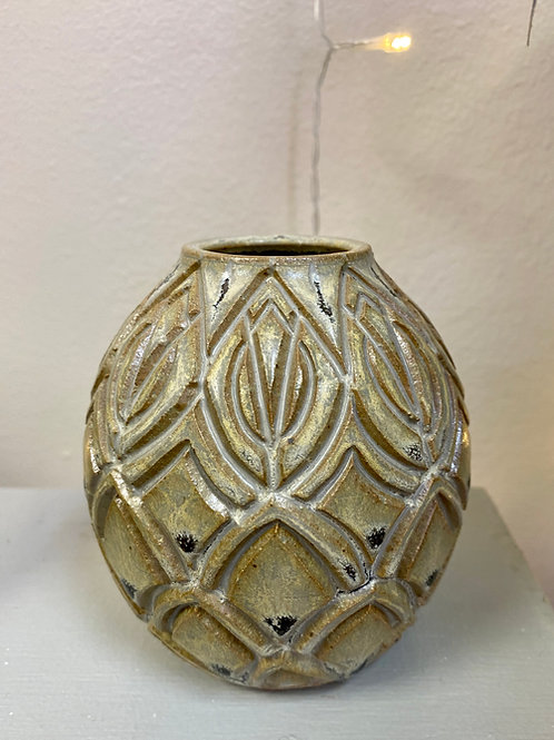 Carved Bud Vase by Laura Davis