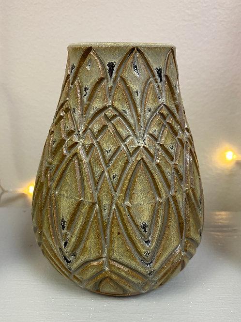 Carved Vase by Laura Davis