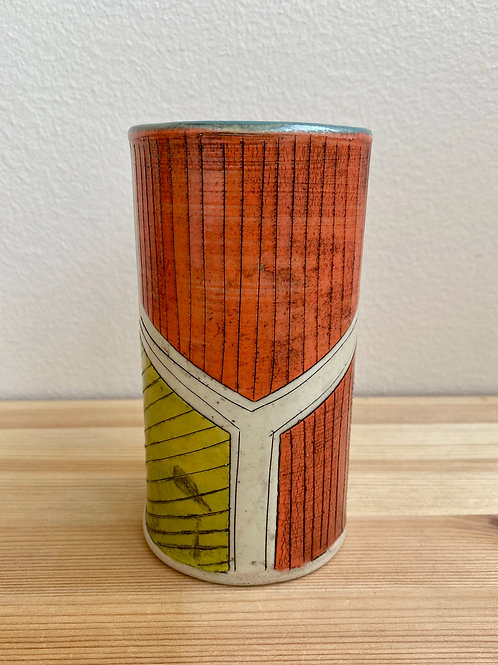 Orange and Yellow Cup by Laura Davis