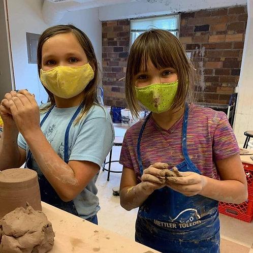 Friday morning, Kids Handbuilding Class