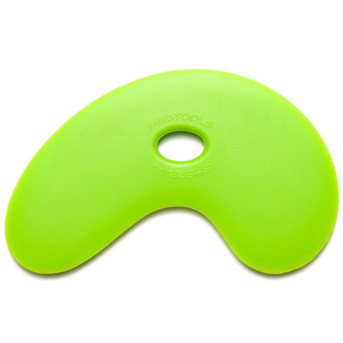 Small Bowl Polymer Rib- Green (Medium)