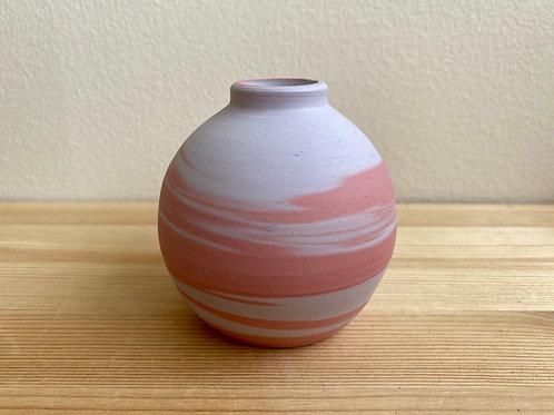 Marbled Pink & Purple Bud Vase by Emily Hobart