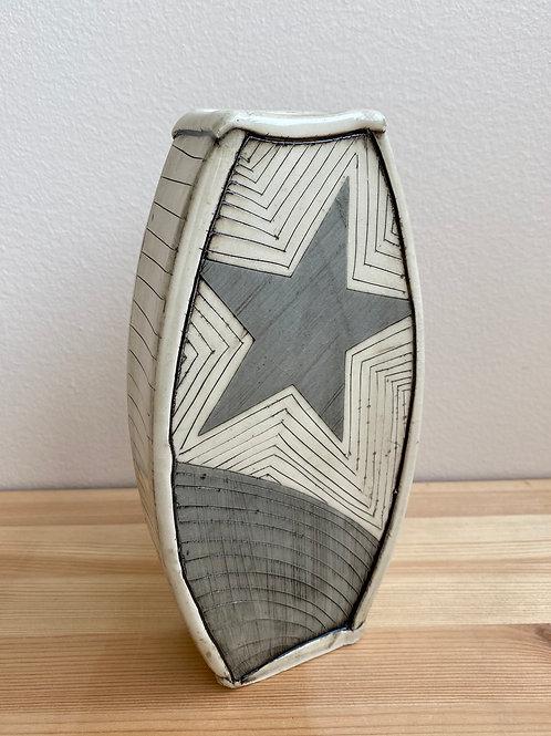 Blue Star Vase by Laura Davis