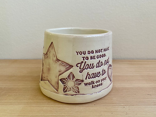"""""""You do not have to"""" Planter by Laura Davis"""