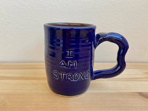 I Am Strong Mug by Jane Lester