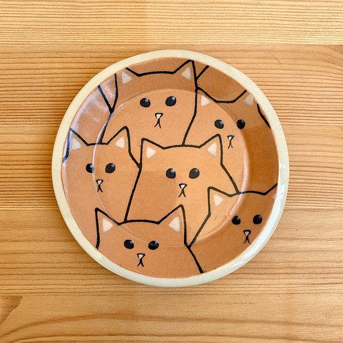 Orange Cat Plate by Emily Hobart