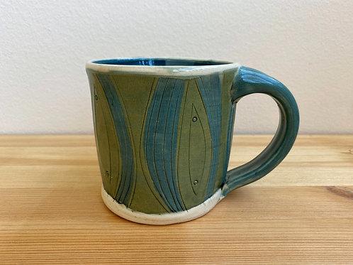 Green Mug by Laura Davis