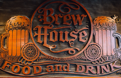 The sign behind the bar