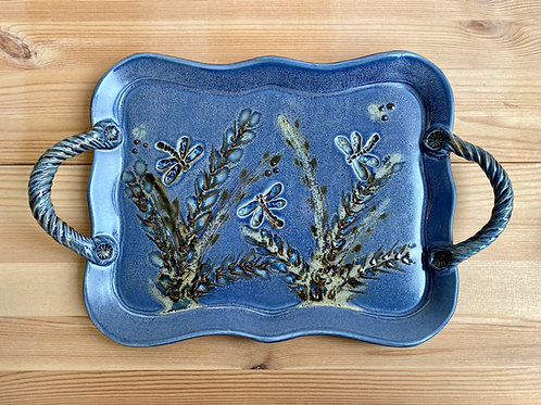 Platter with Handles by LeAnn Price