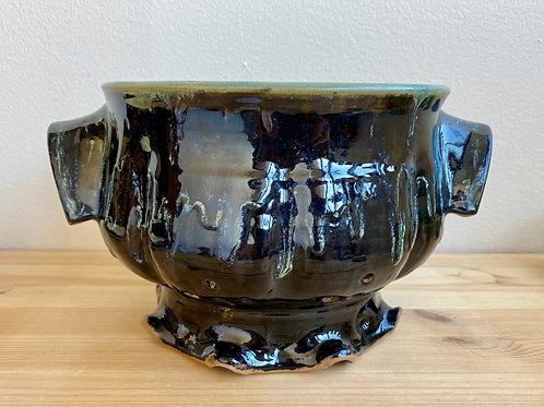 Black Colander by Madville Pottery