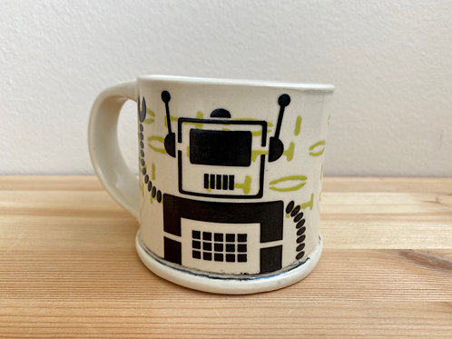 Robot Mug by Laura Davis
