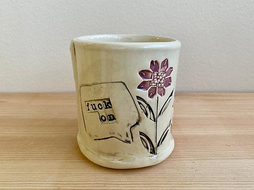 Purple Planter by Laura Davis