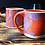 Thumbnail: Orange & Purple Mug by Laura Davis