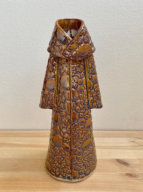 Brown Robe Vessel by Nancy Chestnut