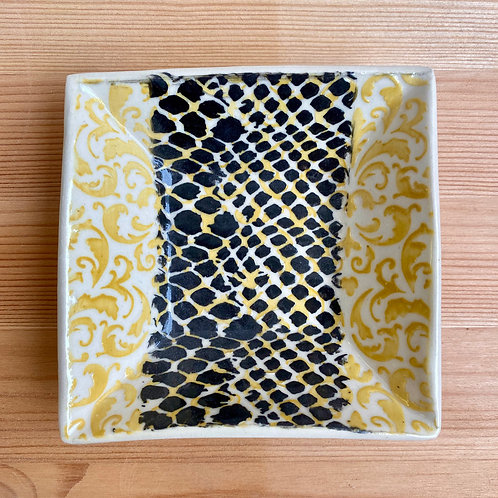 Black and Yellow Plate by Laura Davis