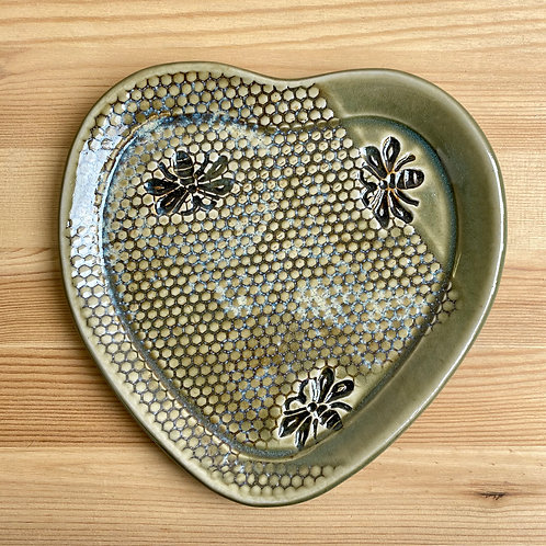 Large Heart Plate by LeAnn Price
