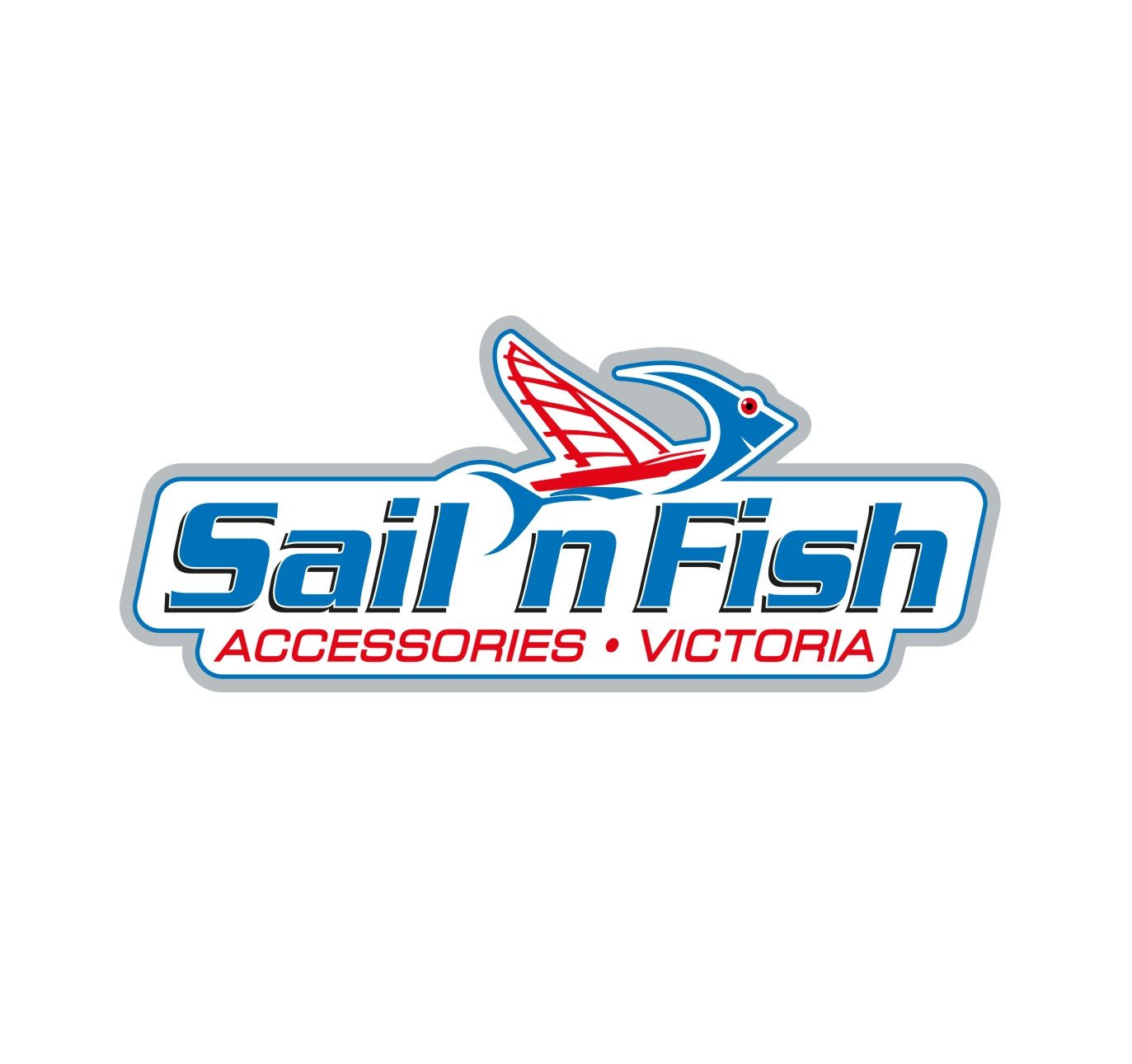 sail n fish logo with victoria