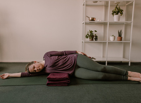Restorative Yoga @ Home - Side lying stretch