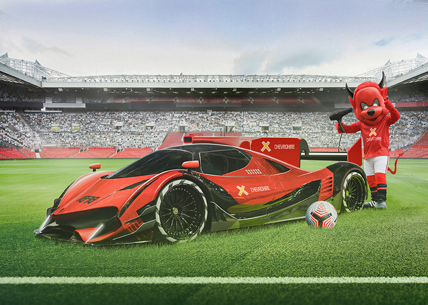 Manchester United - A Devel Sixteen in red