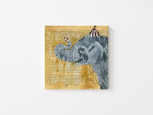 Elephant - Oil - 8x8