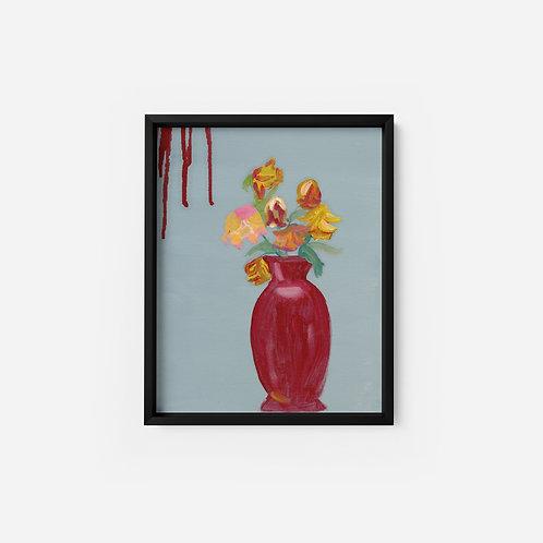 Red Vase - Oil - 9x12